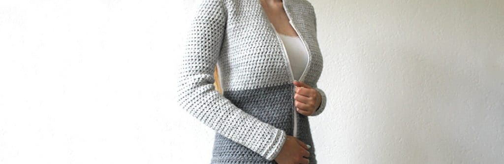 Wonderful Crochet Cardigans for Fall, cardigan modeled with zipper