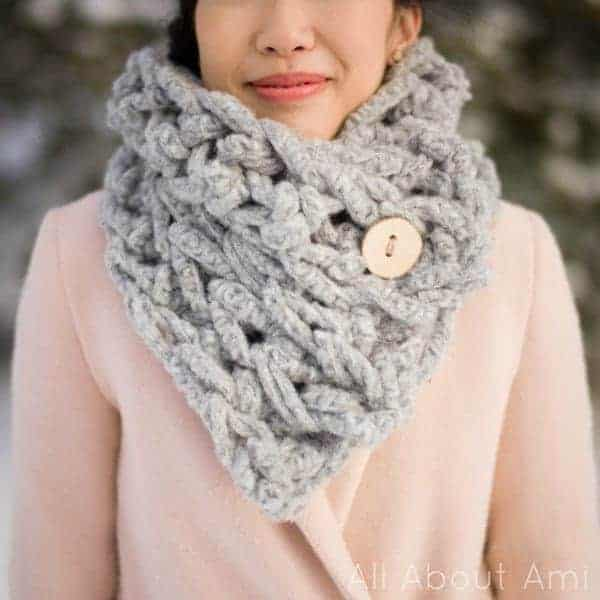 fun crochet cowls and scarfs for fall, made with lion brand jumbo alpaca blend.