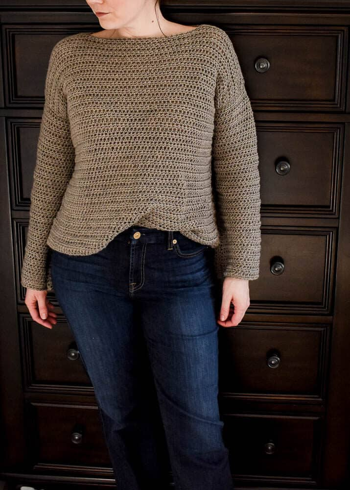great crochet sweaters, a crocheted sweater modeled