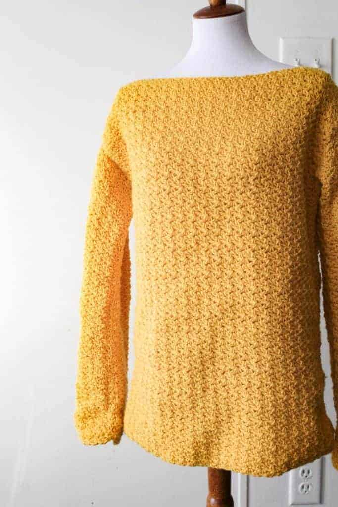 great crochet sweaters, yellow crochet sweater