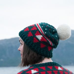crochet my christmas hat, free crochet pattern for a beanie, beanie crochet pattern for Christmas