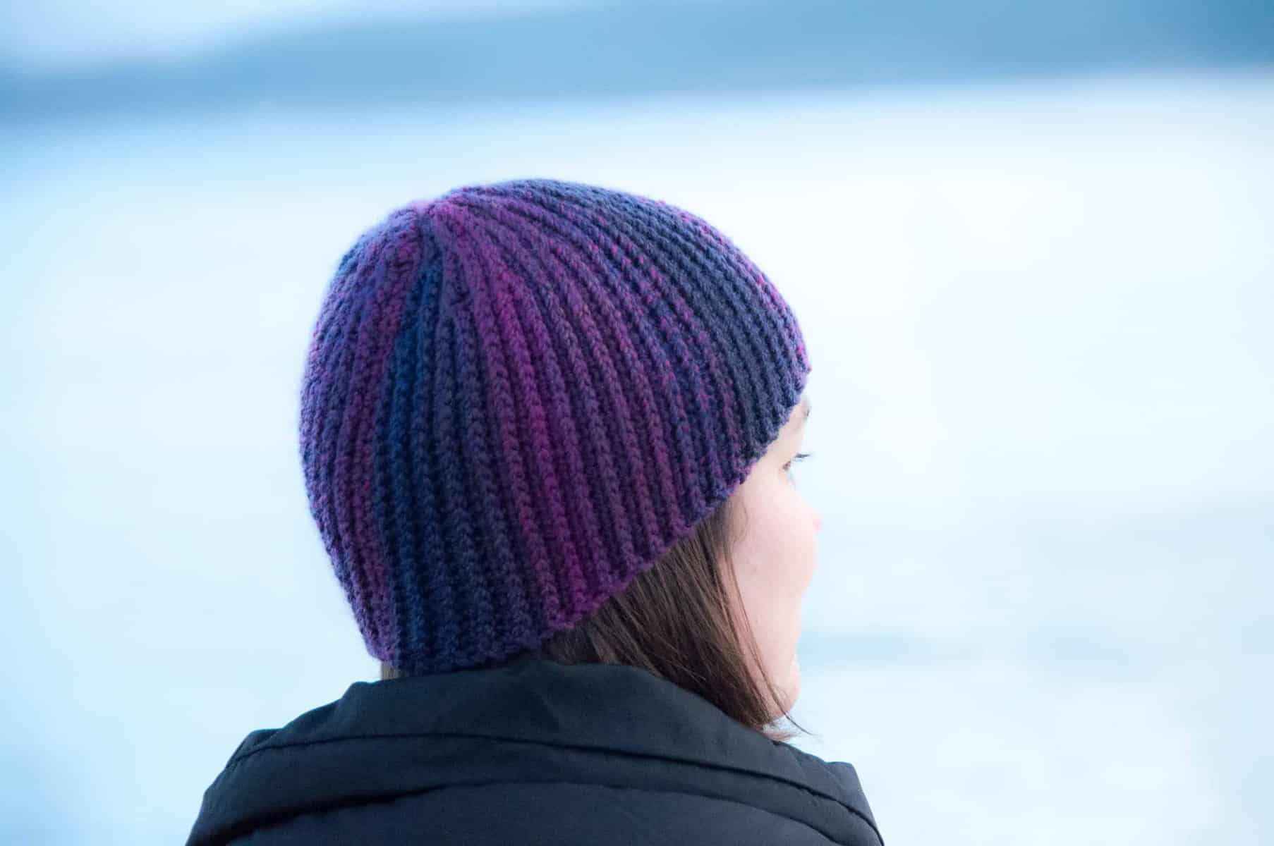twist & stripe hat - free crochet pattern