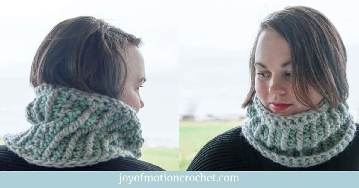 crochet stella mini cowl crochet pattern design
