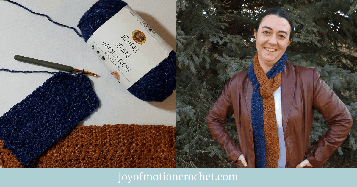 Denim Duet Scarf - Free crochet pattern