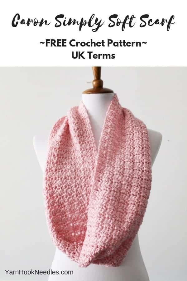 Caron Simply Soft Scarf Using Just 1 Skein, UK Terms