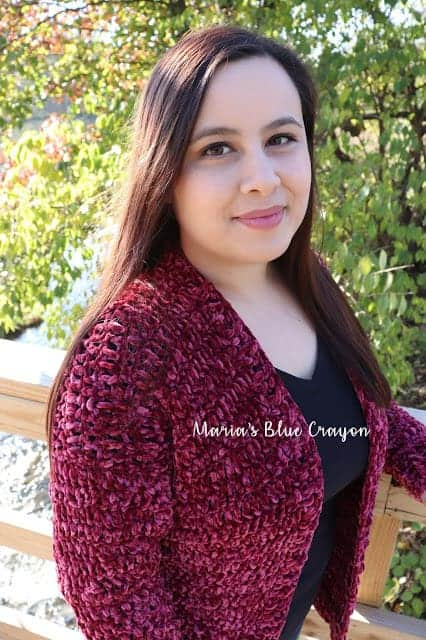 Crochet Velvet Cardigan Sweater - Free Pattern