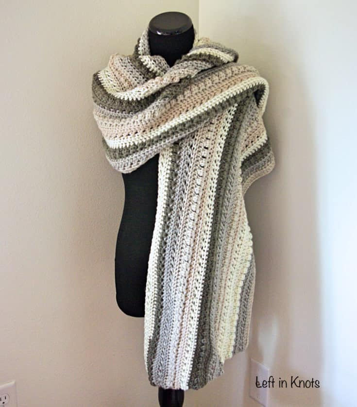 Autumn Chill Angled Super Scarf - Free Crochet Pattern