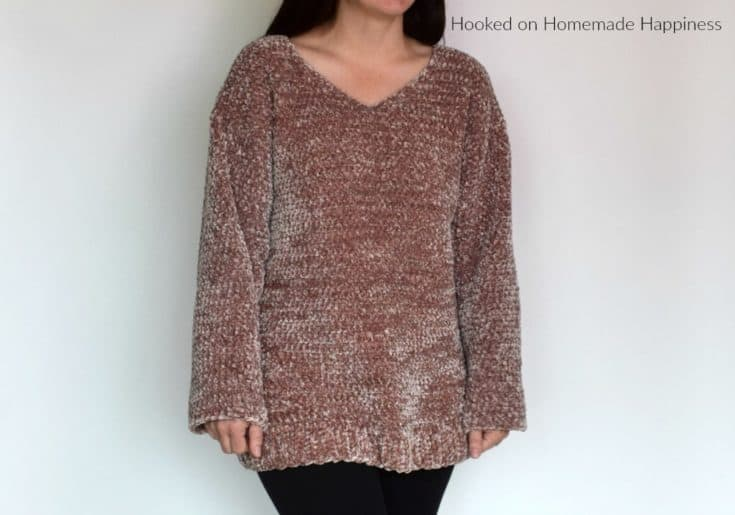 Velvet Pullover Sweater Crochet Pattern