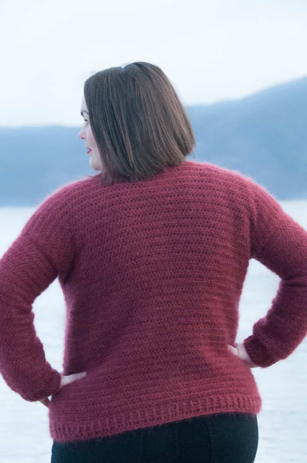 crochet everyday cable sweater - free crochet pattern