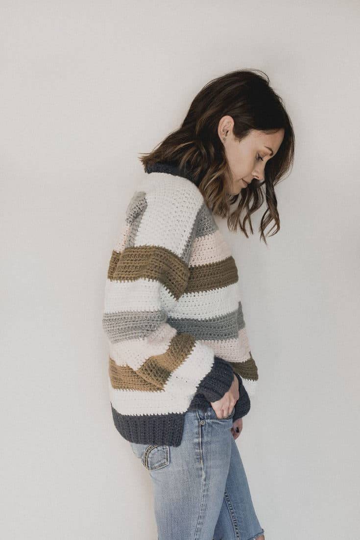 Free Crochet Pattern - Retro Stripes Sweater