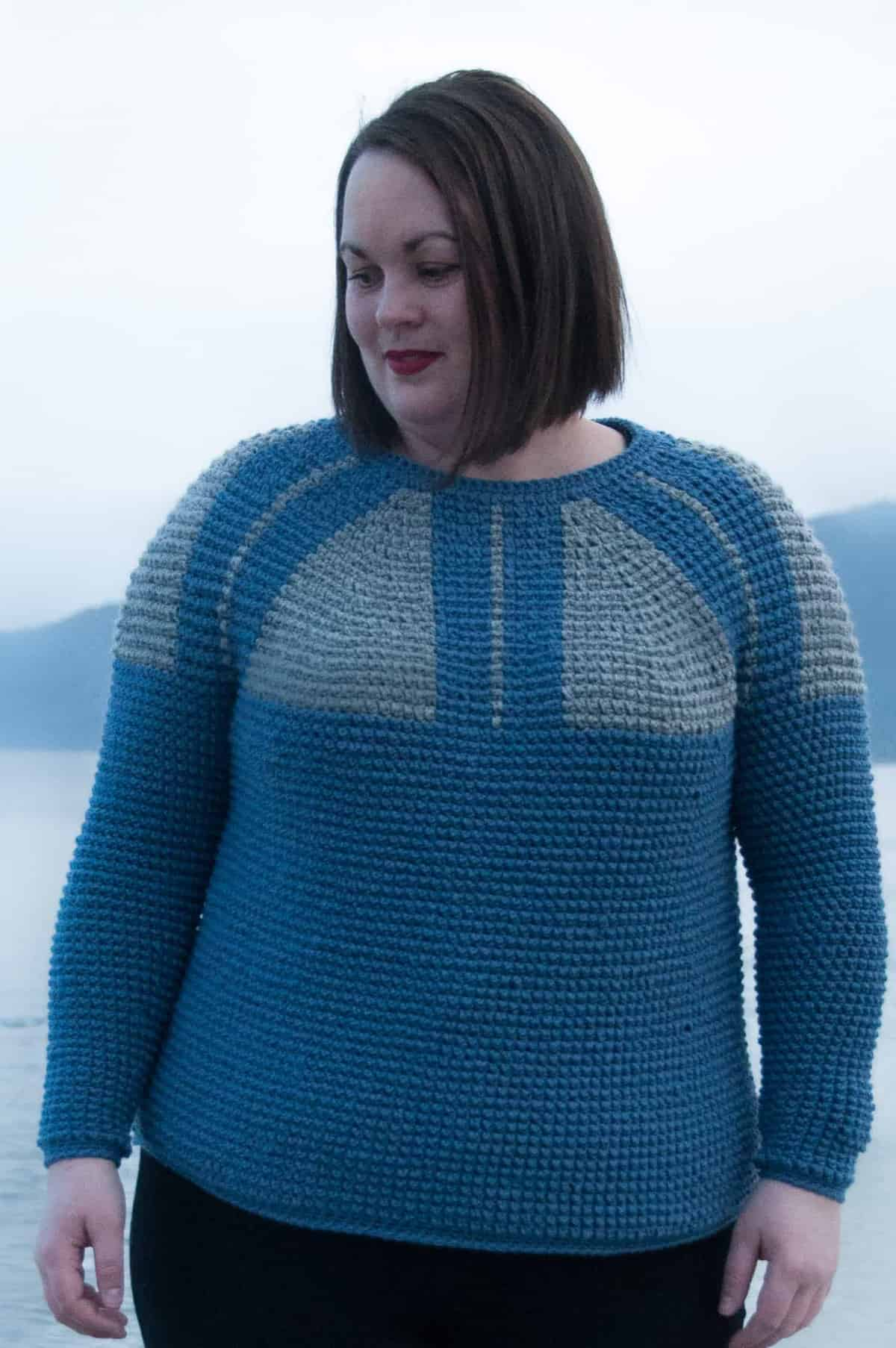 3b6c94308104 Top Down Nordic Sweater Crochet Pattern • Joy of Motion