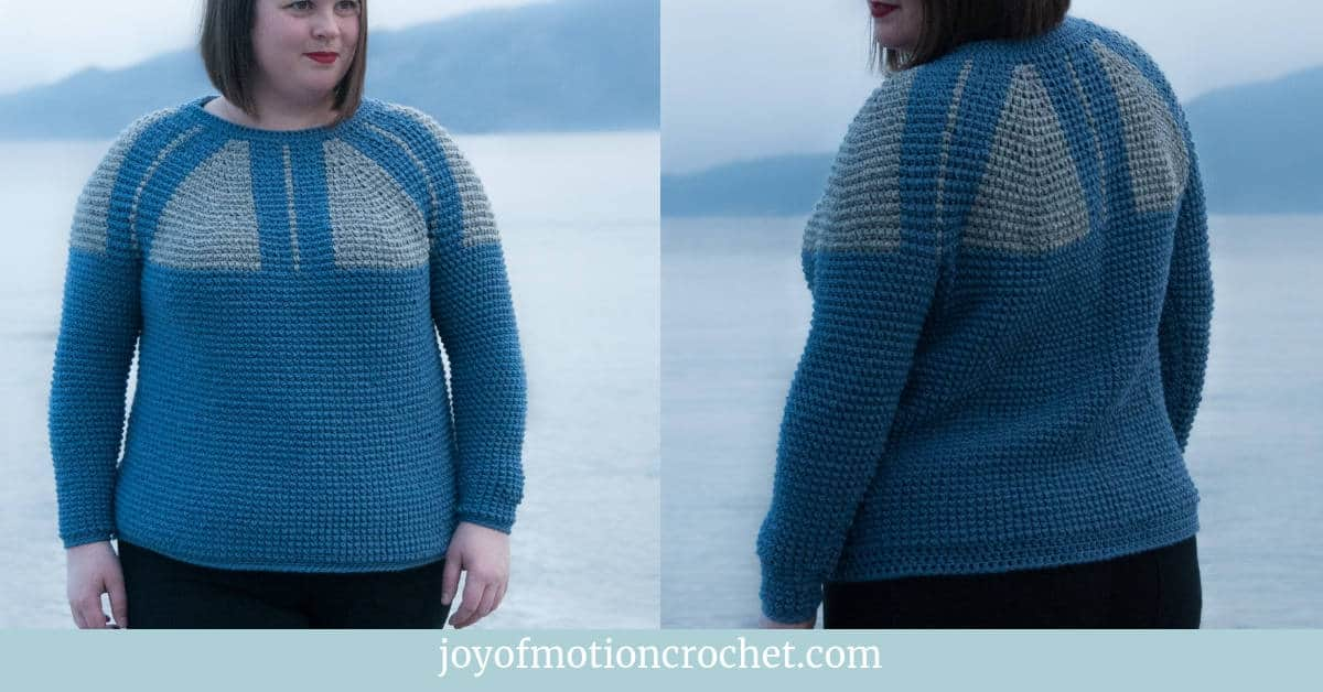 768df9391e66 Crochet Top Down Nordic Sweater - FREE Crochet Pattern • Joy of Motion