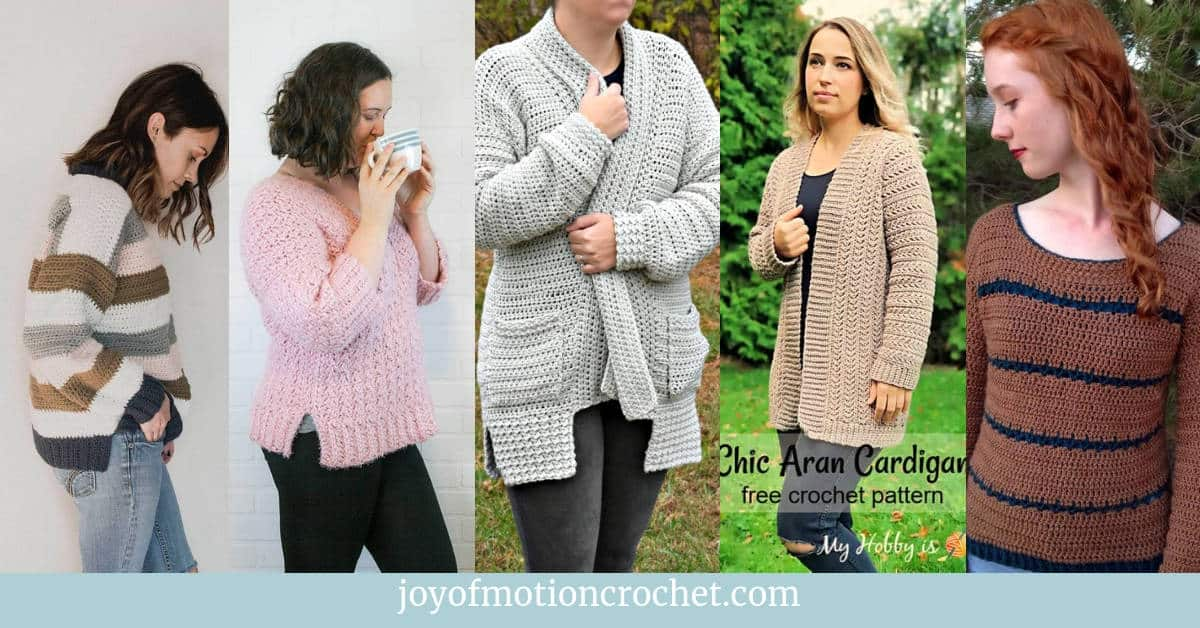 10 amazing crochet garment patterns for women