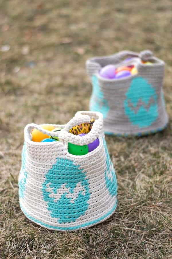 Crochet Easter Egg Basket - Free Crochet Pattern