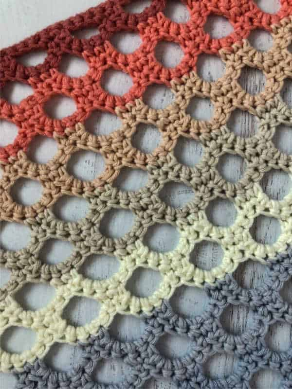 Crochet Honeycomb Trellis Stitch Tutorial