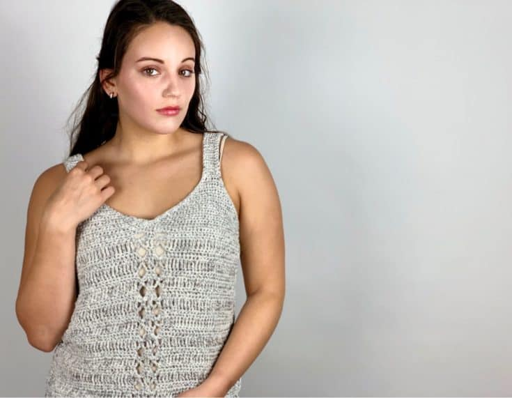 Miami Metallic tank top summer crochet pattern – FREE PDF printable pattern