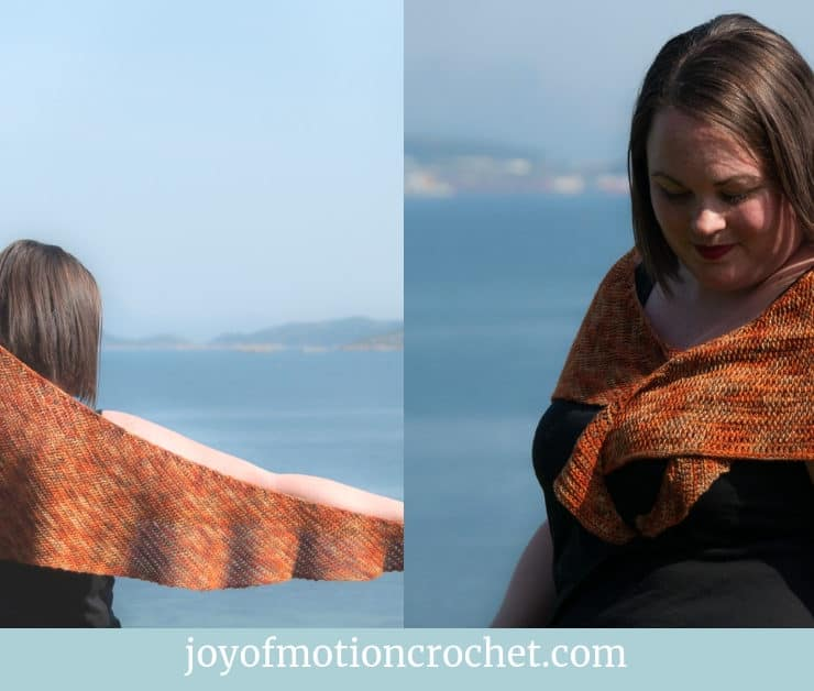 crochet autumn leaves shawl free crochet pattern