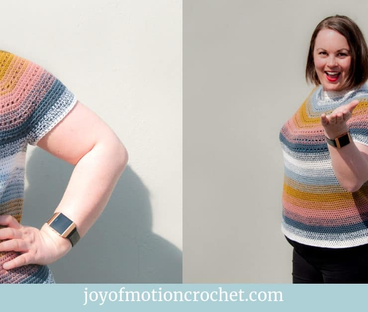 top down summer tee free crochet pattern (1)