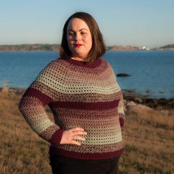 Top Down Winter Sweater - FREE Crochet Pattern