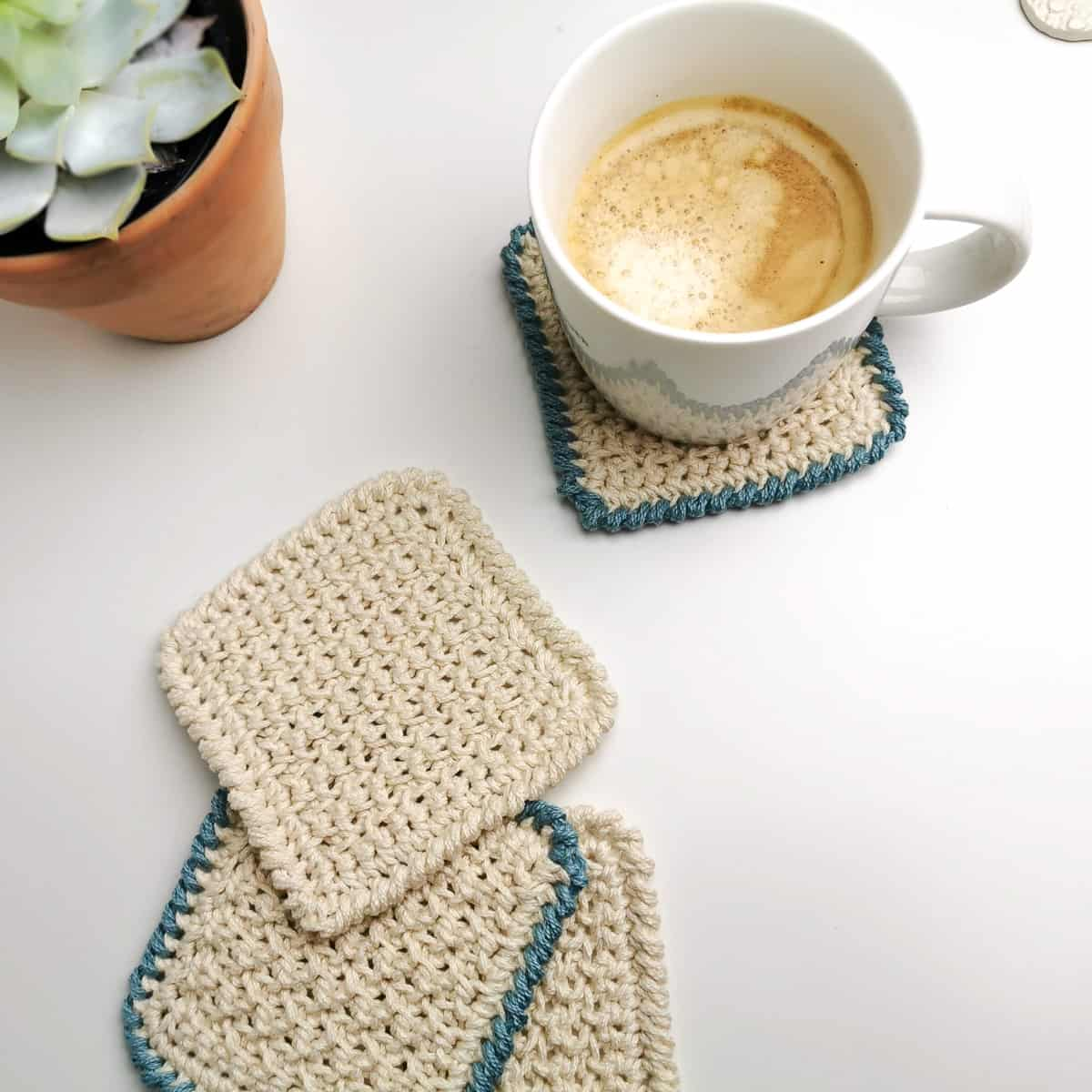 Nordic Textured Coasters by Joy of Motion Crochet