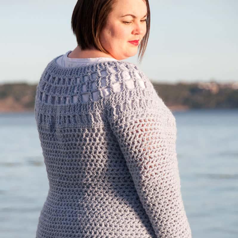 Crochet Top Down Cardigan - FREE Crochet Pattern